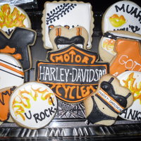 Harley Davidson Thank You Cookies Harley Davidson NFSC w/ Antonia's icing
