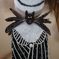 "Jack Skellington   Halloween theme Bday Party! My first ""important"" cake"
