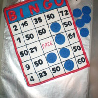Bingo My boyfriends mom loves BINGO so we made her a bingo card for her birthday. She was turning 50 so we put 50's all over the cake. All...