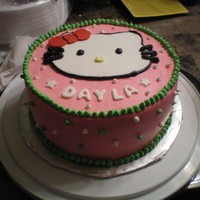 Hello Kitty Buttercream with Fondant Kitty and Bow.