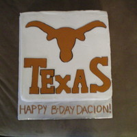 Longhorns This is a copy of someone else's cake, a friend found the pic and requested the exact same cake. Hope no one is offended! All...