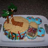 "Luau Cake I made this for my 23rd Birthday party, my sister threw me a Luau. I of course, demanded to make my own cake. The ""sand"" is Nilla..."