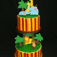 Jungle Cake This cake was designed from the invitation for the Baby Shower.