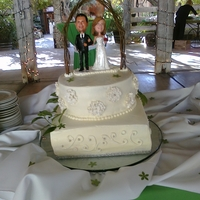 Reed/feinberg Wedding- Bernardo Winery First Wedding cake for friends wedding held at Winery- they had bobble heads for topper that looked like them. Vanilla Cake with Cream and...