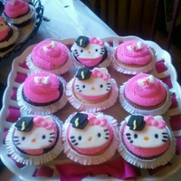Hello Kitty Graduation Cupcakes Graduate wanted pink and black hello kitty cupcakes.