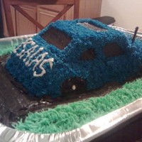 Baby's First Car Birthday Cake I just used the wilton mold for this, star tip...took FOREVER lol it's my nephews first birthday cake, I used a huge pan for the big...