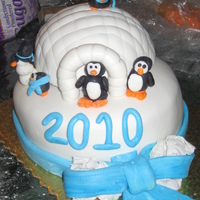 Penguin New Year Cake
