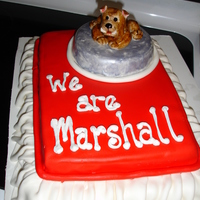 We Are Marshall Middle School I made this last minute for my husband's first day back at school. It is all fondant.