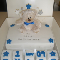 Baby Boys Naming Day Cake