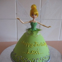 Tinkerbell Cake I made this Tinkerbell Cake for a friends daughter :) Flavour was Banana Mud Cake