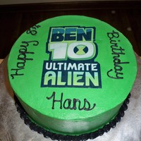 Ben 10   10 inch two layer round buttercream icing with edible image