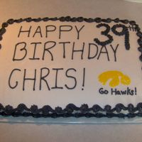 Iowa Hawkeye Football This was for another Hawkeye fan. Buttercream