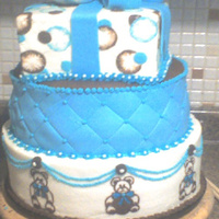 My Dear Friends Shower  I had a little fun with this one. This was one of the cakes that had to be done the same week as my shower. Covered in Fondant and butter...