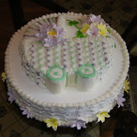 My Baby Shower This cake was for my own baby shower this past August, I did a simple cake as I had done several cakes that week and I was just plain...