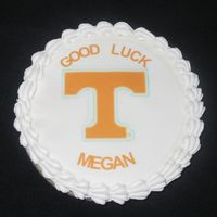 Tennessee Volunteers Back To School Cookie I made these cookies for a friend who has a daughter starting her first year at the University of Tennessee