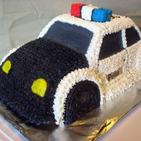 Police Car I just finished this cake for my little Brother who Graduated from MSU's Law Enforcement Program.