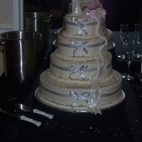 Sliver Wedding Cake