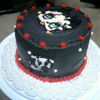 Betty Boop   betty boop fbct . 2 layer chocolate cake w/ ganache filling