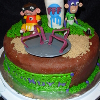 Fanboy And Chumchum This is a 10 inch marble cake with chocolate ganache. Covered in homemade chocolare fondant scratch learning experience. Molded fondant...