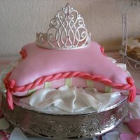 Princess I made this cake for my Daughter's 1st birthday. She was a princess for the day.