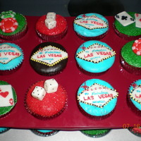 Vegas Cupcakes These were for my friend's wedding rehearsal dinner.