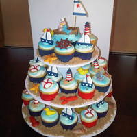 Nautical Baby Shower inspired by a few cupcakes and cake pics here :), thanks!