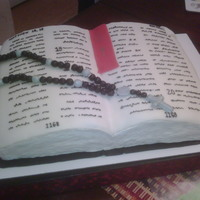 Bible Cake Cake for my godson's christening.