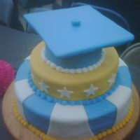 Graduation Cake This cake was for a good firend of ours. Their son graduated and made it into the national honors society! The school colors were blue and...