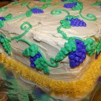 Grapevine This was my first cake that ever decorated. I found the idea for it in a Wilton book. Thanks for looking...