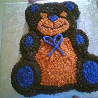 Teddy Bear Cake I made this for a friend in my bookclub who's son was turning 2!