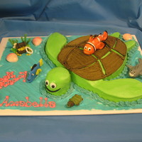 Under The Sea...nemo Under the Sea theme with the Nemo characters. Small characters all of fondant, except Nemo...made of a soft clay that I baked and then...