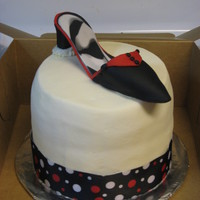 Black & Red   Quick cake for my friends birthday. This was my first shoe! Made of fondant