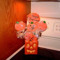 Halloween Cookie Bouquet   this is my first attempt at a bouquet and decorating cookies
