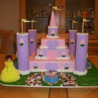 Castle Birthday Cake This is a castle cake covered in marshmallow fondant.
