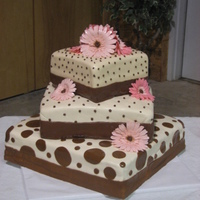 Polka Dot And Gerber Daisies   Flowers are made out of gumpaste.