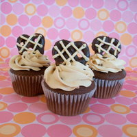 Chocolate Covered Peanut Butter Frosted Cupcakes