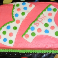 Polka Dotted Lingerie  White cake with Indydebi's frosting recipe. Lingerie is made of modeling chocolate. I'm a rookie, so comments and advice are...