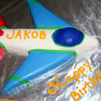 Happy Birthday Jakob! the original request was for an airplane. the mom sent me a pic of what was on her son's tshirt he was going to wear, too much red in...