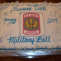 Rotc   I did this cake for my sons Army Jrotc.