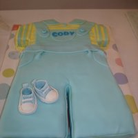 Boy Baby Shower Cake Designed from the invitation. Yellow cake with CC chocolate filling, CC crusting buttercream and fondant.