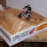Andrew's Birthday   This was for a close friends son, he loves his dirtbike riding, it was a fun cake.