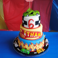Hot Wheels Hot Wheels themed cake for my sons 6th bday