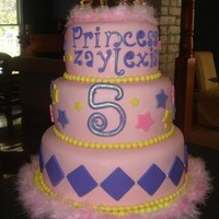 Princess Zaylexis Chocolate chip cake, it was a big hit especially with the kids