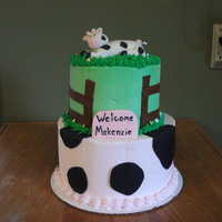 Cow Themed Baby Shower Cake