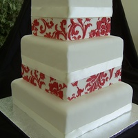 Stencilled Wedding Cake
