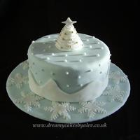 Winter Christmas Tree With Piped Royal Icing Snow