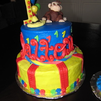 Curious George Cake This was a 2-tiered cake with buttercream frosting. The monkey is made out of modeling chocolate. It's the first time I've ever...