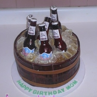 Coors Light Beer Bottle Cake It's been awhile since we've had a beer bottle order, so this one was a lot of fun. I had to rush on the bottle caps to get the...