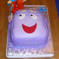 Dora The Explorer Backpack Cake Here's a Dora the Explorer Backpack Cake we made for an eight year old's birthday party. They also requested that we add Swiper,...