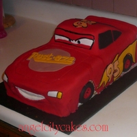 Cars, Lightning Mcqueen Cake Here's a Lightning McQueen cake we did for a three year old's birthday party. I think it's okay for our first try and it was...